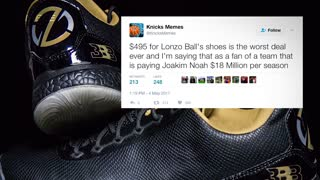 Lonzo Ball REVEALS New $500 Signature Big Baller Brand Shoe - Video