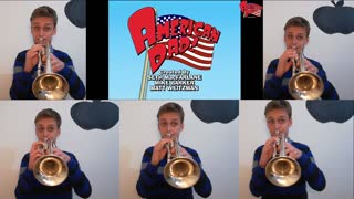 'American Dad' theme song multi-tracked with 5 trumpets