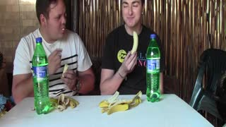 Banana and Sprite Challenge Fail - Video