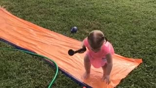 Collab copyright protection - pink toddler girl orange slip slide - Video
