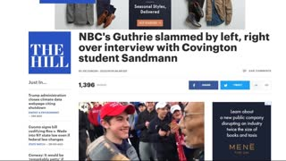 Liberals Are Melting Down Over Savannah Guthrie's Interview With Nick Sandmann