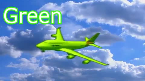 Video about colored airplanes for children in English Smart cartoon for kids