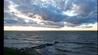 October Clouds & Sunsets, Mitiwanga, on Lake Erie, Huron, OH (best viewed in 4k 2160p)