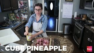 Leftover Ham Pineapple Kabobs with Elissa the Mom | Rare Life - Video