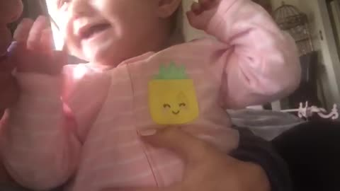 Baby can't stop laughing at mom's burping