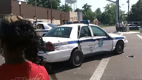 Police Cars Crash Into Each Other