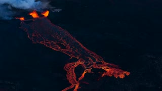 Flying Over an Active Volcano in Iceland - Video