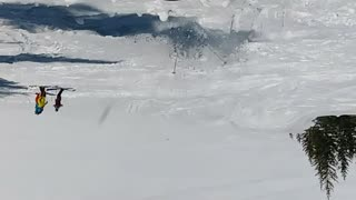Upside down camera ski fall - Video