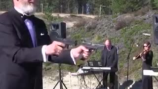 These russians have found a new use for firearms - Video