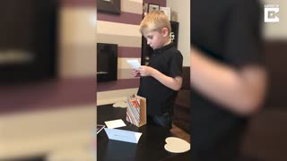 Boy Doesn't Understand His Mom's Gift at First. But Just Wait Until He Gets it. - Video