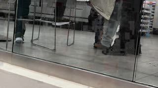 Man Performs Spiritual Cleansing on Woman in Train Station