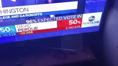 PERDUE LOST 5000 VOTES CAUGHT ON LIVE TV