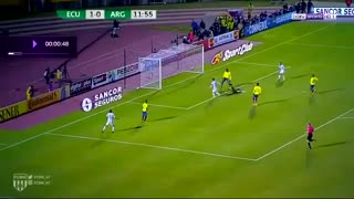 Lionel Messi goal (1) vs Ecuador - Video