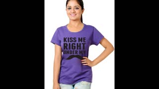 Womens Chocolate Colour Cotton t Shirts - Video