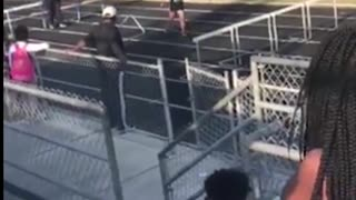 Girl Following Hurdle Jumper Fails Spectacularly