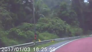 Truck Spins Down Road - Video