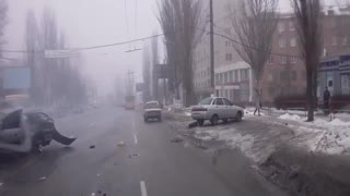 Swish, swish, BOOM! (ORIGINAL TITLE: Кировоград ДТП  ул. Полтавская 28.12.12) - Video