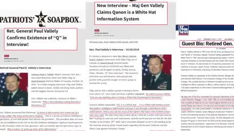 Q an Anon Revealed-U.S. Army Major General Paul Vallely Says Q is Military Operation