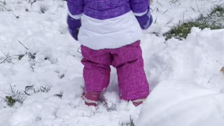Olivias first snowstorm