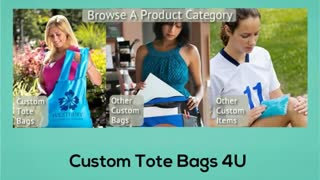 Custom Tote Bags 4U - Video