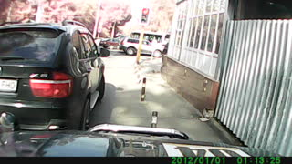 A Young Pedestrian in a Rush Gets Hit by a Car