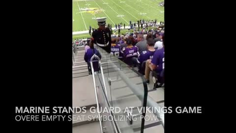 Marines Standing Guard At Minnesota Vikings Game