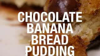 Banana bread pudding - Video