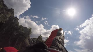 Peregrine Falcon Chases Human Wingsuit Pilot - Video