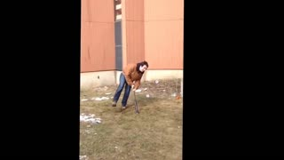 Collab copyright protection - brown jacket dizzy bat fail - Video
