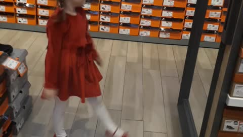 Dance like mummy is buying shoes!