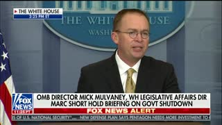 Mulvaney Criticizes Senate Dems for 'Throwing a Temper Tantrum' During Briefing - Video