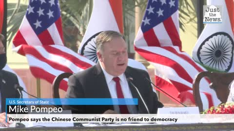 Pompeo says the Chinese Communist Party is no friend to democracy