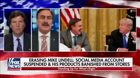 "Mike Lindell business has been attacked by ""dem"" leftists of the great reset"