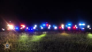 Police car lights synchronized to Christmas music