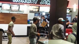 10 v 3 Fight @ Perth Hungry Jacks - Video