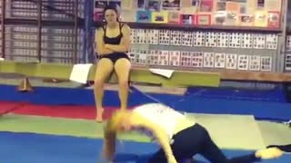 Collab copyright protection - girl handstand faceplant - Video