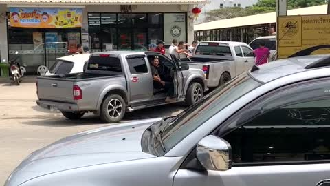 Dramatic Hit and Run in Thailand