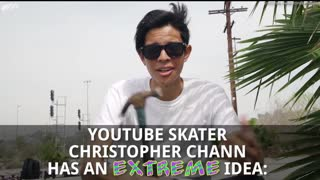 Christopher Chann Builds Most Dangerous Skateboard Ever - Video
