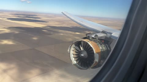 Boeing 777 returns to Denver airport after engine blew apart