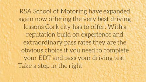 Driving School in Cork