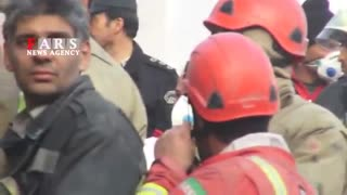 30 firefighters killed in collapse of high-rise in Tehran - Video