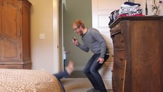 Dad pranks his 6-year-old son twice!