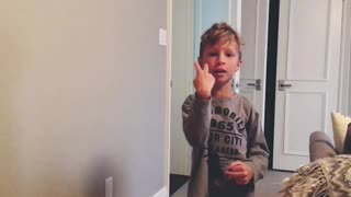 6 year old makes up a song  - Video