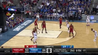Ref Blows 2 Calls in 2 Seconds During Kansas-Maryland Sweet 16 Matchup - Video