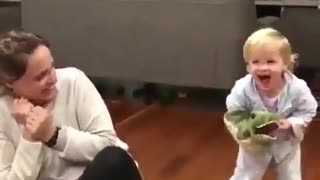 Cute video with Mother and baby