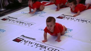 Diaper derby has babies crawl for victory - Video