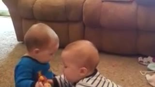 [ LoveBaBy ] - Twin Babies Have Adorable Fight - Funny - Funny BaBy - Video