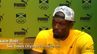 Usain Bolt chasing 200m world record in last Olympics - Video