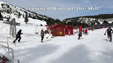 Snowboarders race to be crowned King of the Hill
