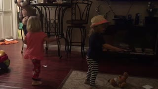 Two Year old twins a have a dance party  - Video